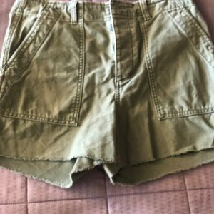 Green utility shorts from the Gap